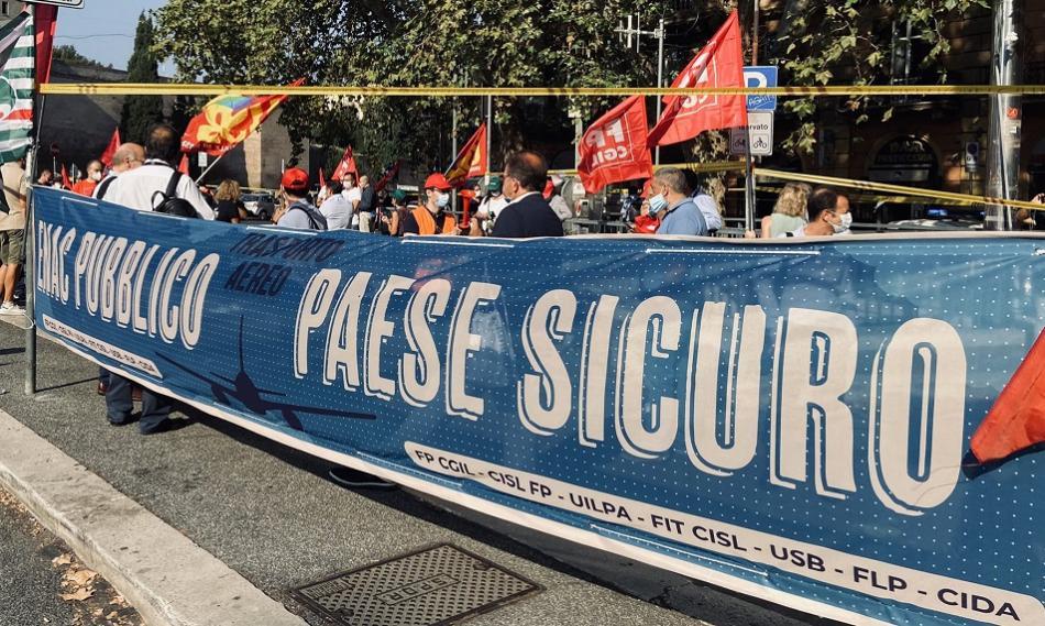 Strike - demo in Italy 16 September 2020