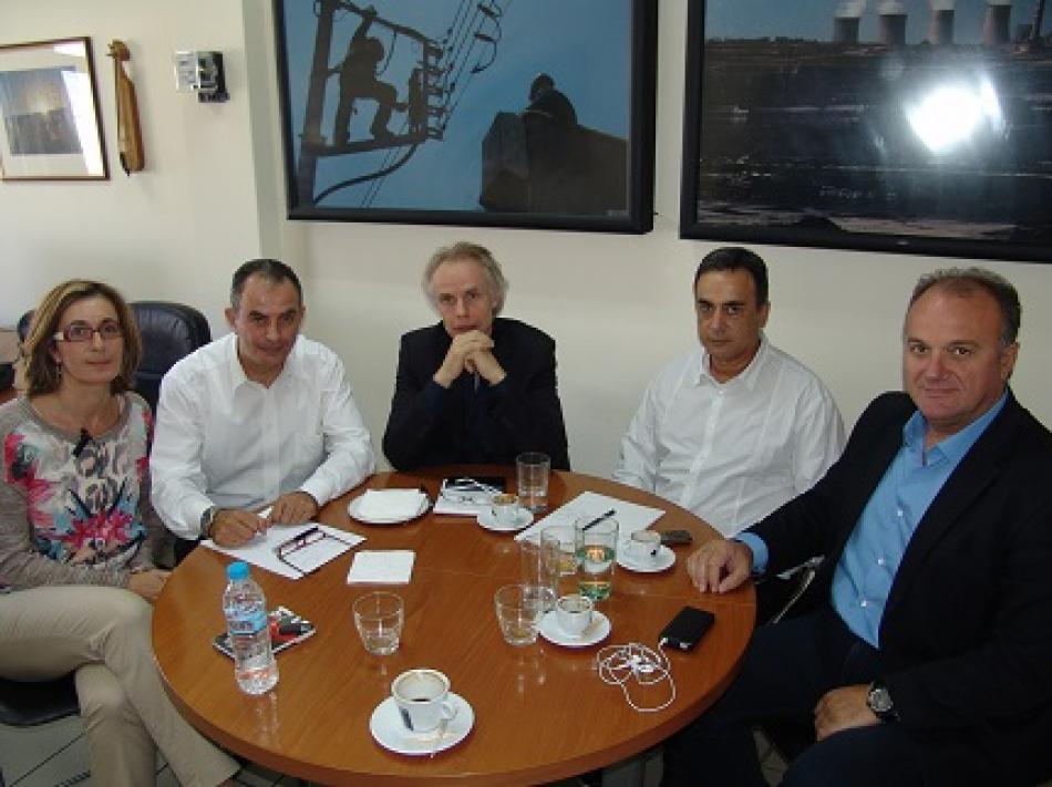 Meeting with GENOP leadership 15 October 2015, Athens