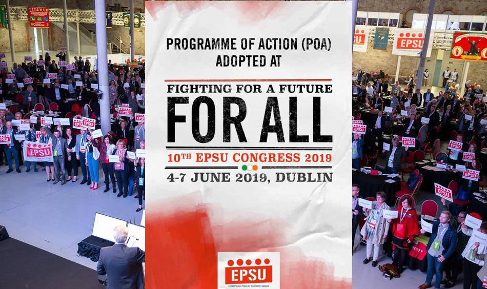 EPSU Congress June 2019 Programme of Action leaflet