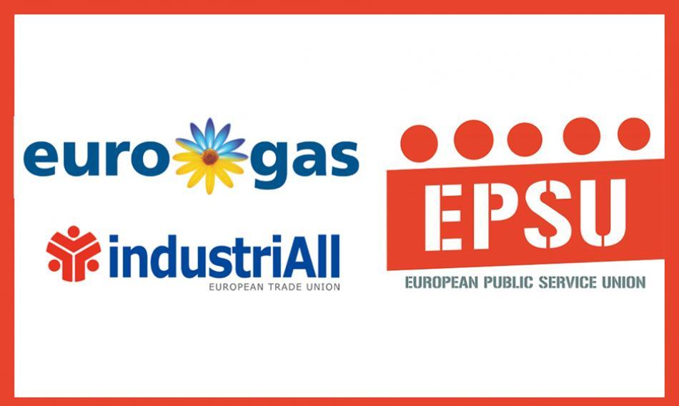 Gas social dialogue 3 Logos EUROGAS INDUSTRIALL EPSU
