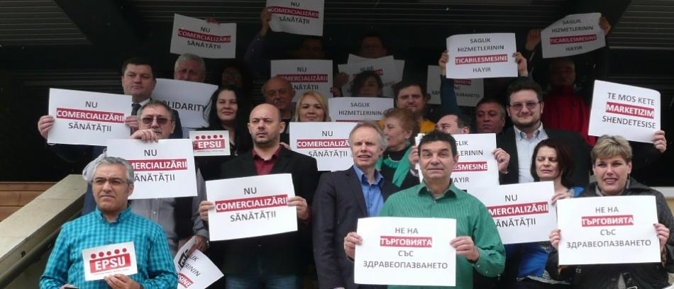 No to commercialization of health care 24032016 Sinaia_WEB_950pix