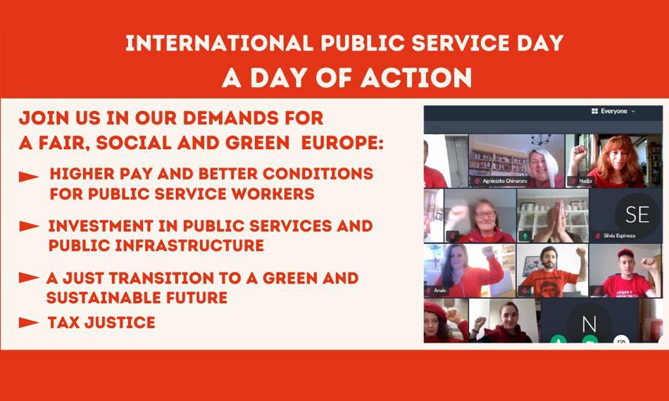 Public service day EPSU 23June 2020