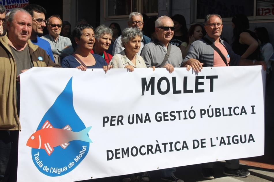 19 March demonstration civil society water Terrassa World Water Day 22 March 2017