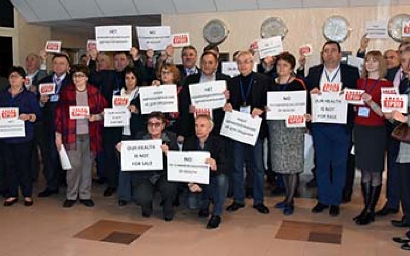 North Eastern Europe affiliates  unions in support of EPSU action 7 April