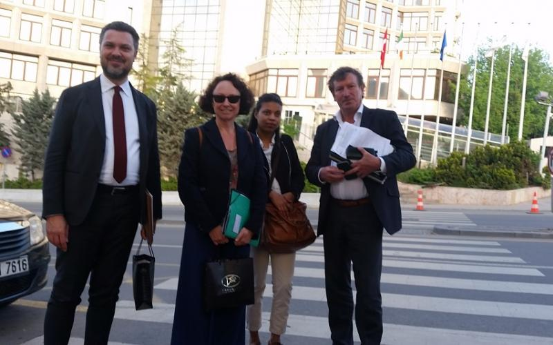 ETUC-ITUC delegation shared concerns for 10.000s dismissed public service workers with EU delegation, Ankara, May 2017