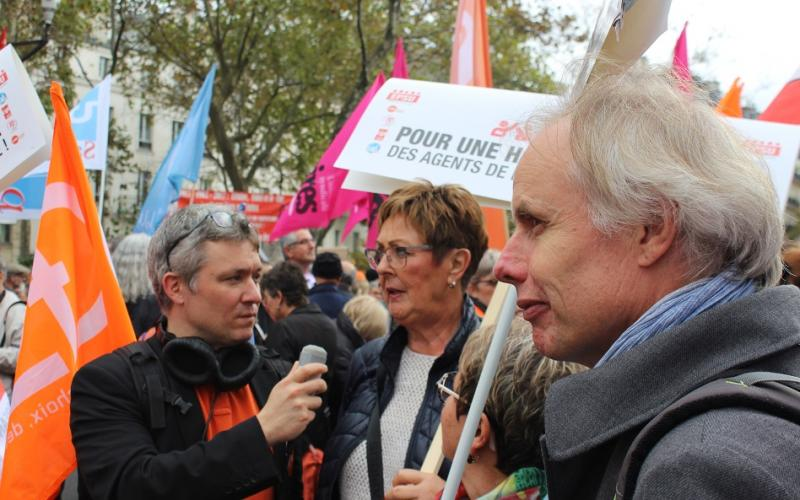 EPSU President Isolde Kunkel-Weber with EPSU General Secretary and EPSU Vice-President in Paris, 10 October 2017