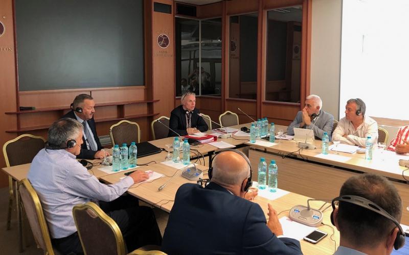 IMG_6028Jan Willem and Oleg Budza, President Moldovan Confederation - Constituency meeting 11-12-09-2019 Chisinau Moldova