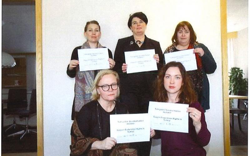 solidarity from the leadership of Swedish public sector trade unions