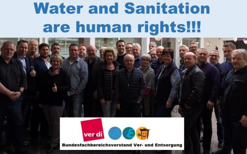 Water and Sanitation are human rights BFB2 Vorstand ver.di