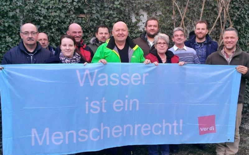 Water and Sanitation are human rights -  support ver.di Landesfachbereichsvorstand Bayern