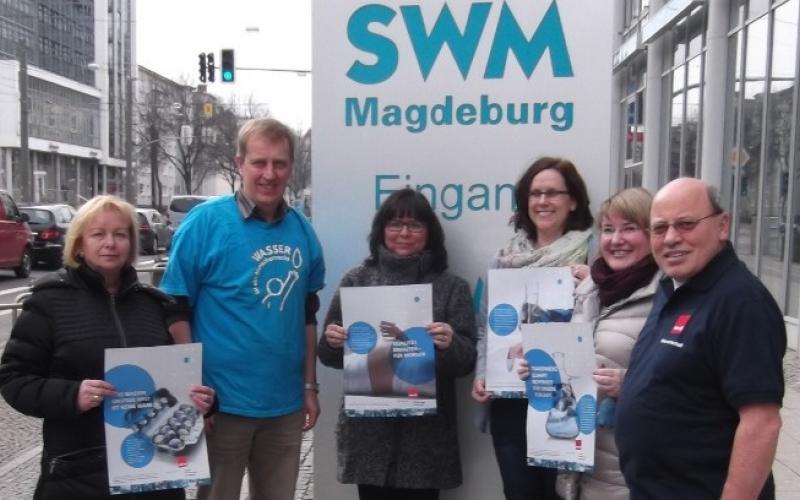 Water and Sanitation are human rights - support Städtische Werke Magdeburg