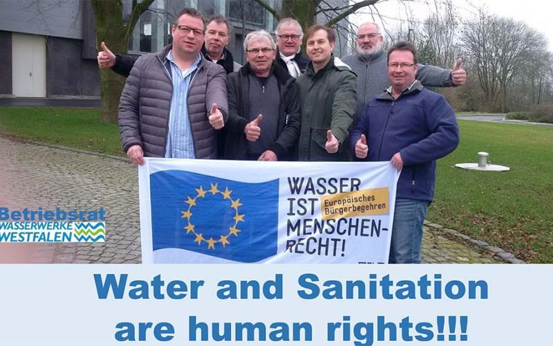Water and Sanitation are human rights - support Wasserwerke Westfalen