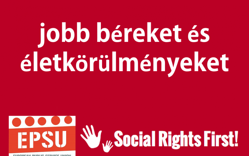 Social Rights First campaign - EPSU HU