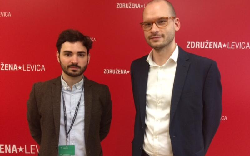 Guillaume Durivaux EPSU with Vlado Odar in the Slovenian Parliament