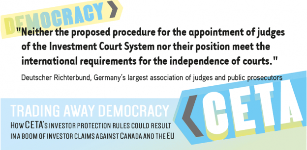 CETA trading away democracy report 2016