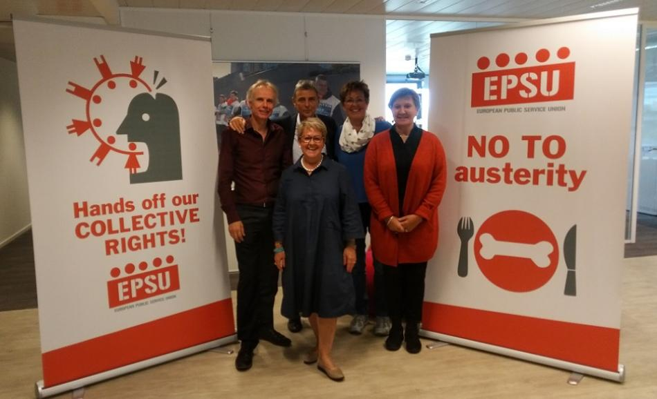 EPSU leadership supporting French actions 10 October 2017