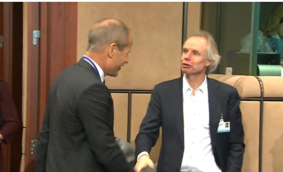Minister of Finance, Toomas Tőniste, Estonia and EPSU General Secretary, Jan Willem Goudriaan - 6 November 2017