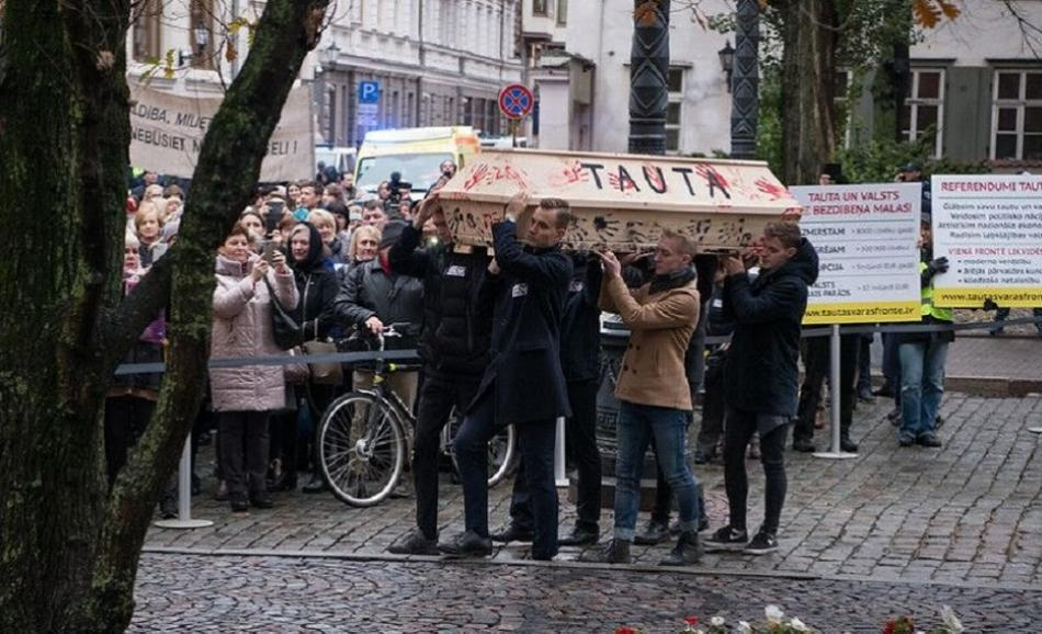 Previous action Latvian health and care workers on 7 November