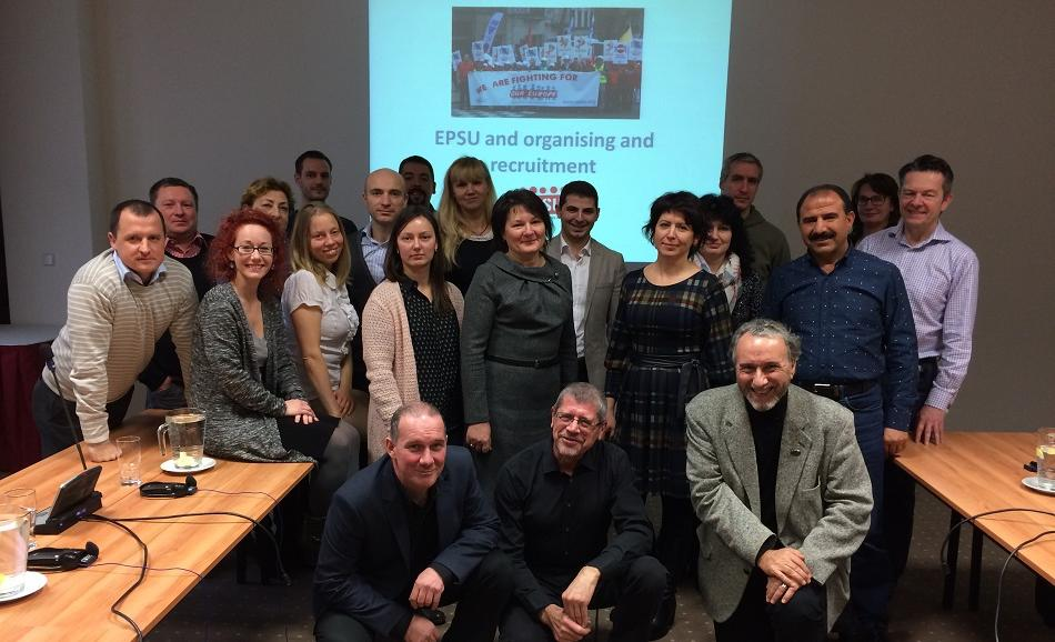 EPSU Follow - up meeting on organising and recruitment, Prague, 16 December 2016