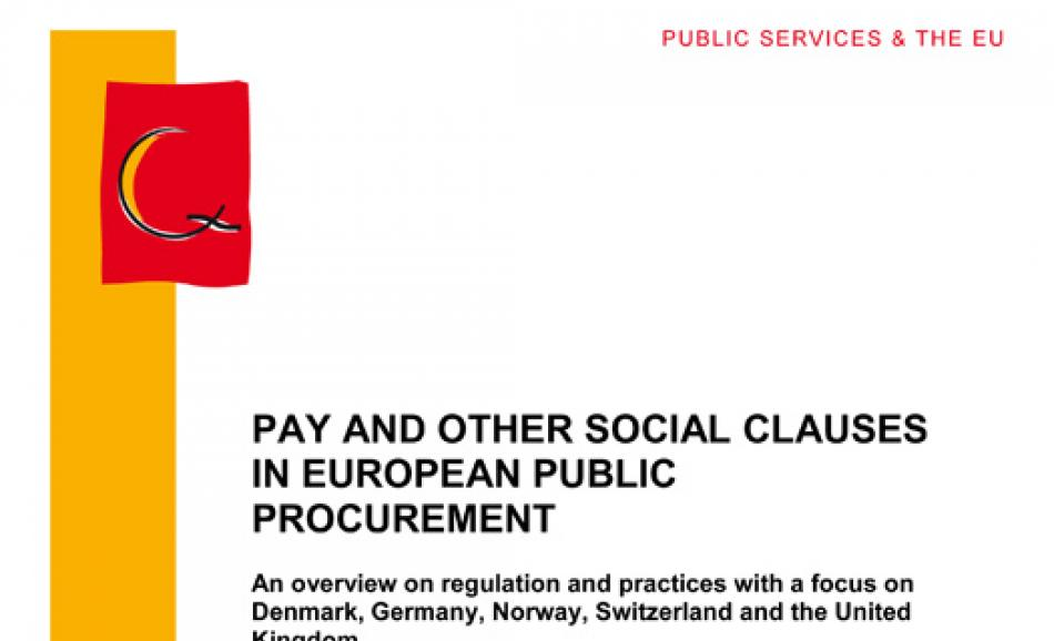 pay and other social clauses in European Public Procurement Study 2012.12