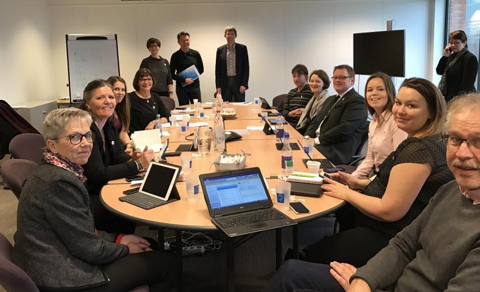 Norwegian Nurses Organisation visits EPSU, Brussels February 2017