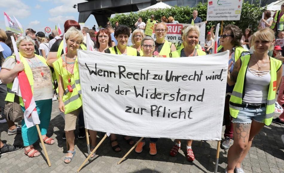 20 June 2018 GMK-Protest CELENUS in Düsseldorf