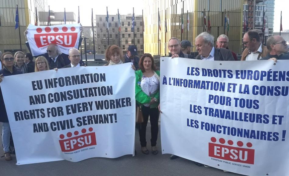 Court Case EPSU vs EC on information and consultation rights, Luxembourg, 23 May 2019