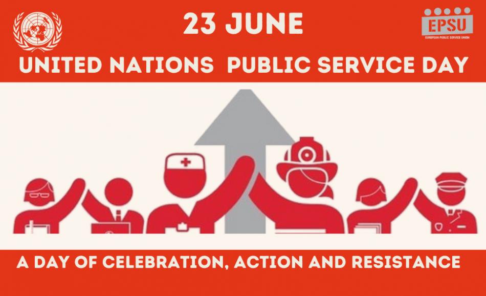 23 June EPSU logo Public Services day