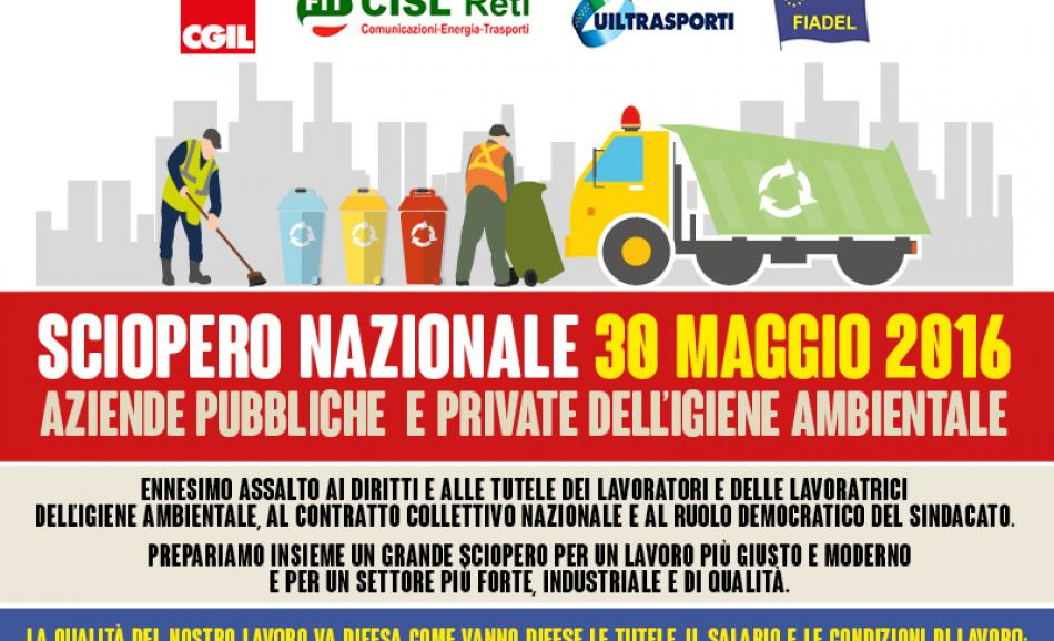 Waste sector in Italy on strike on 30 May 2016