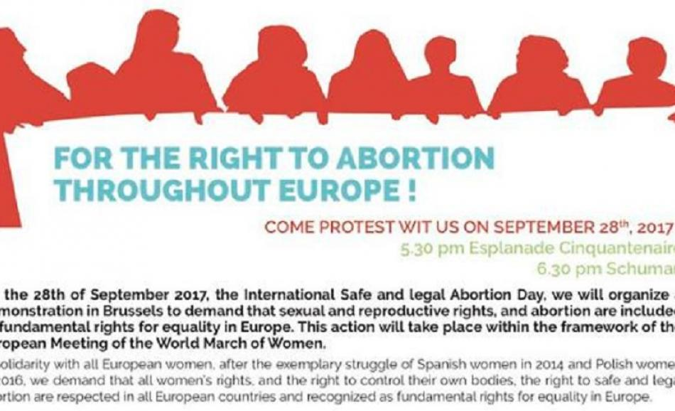 For the right to abortion - 28 September 2017, Brussels