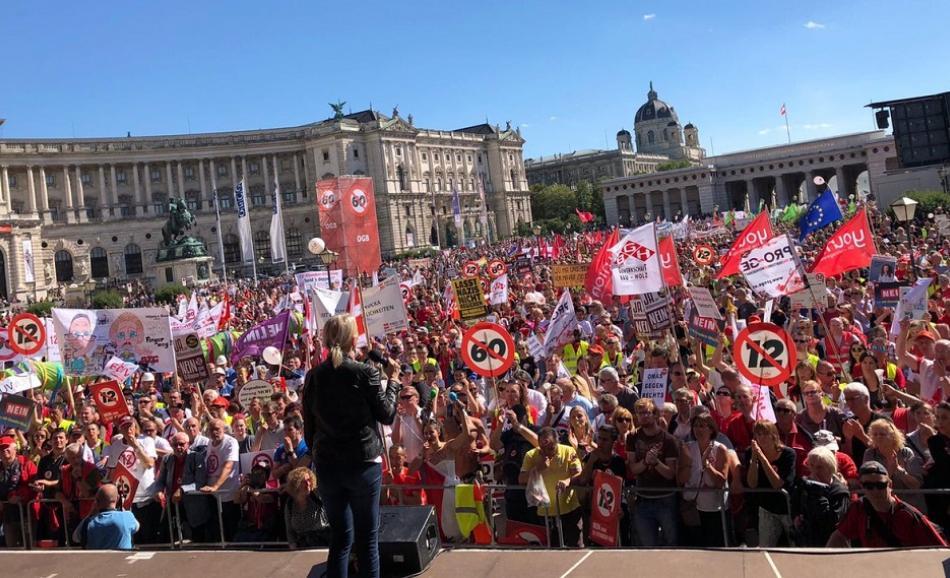 Demonstration in Austria 29 June 2018