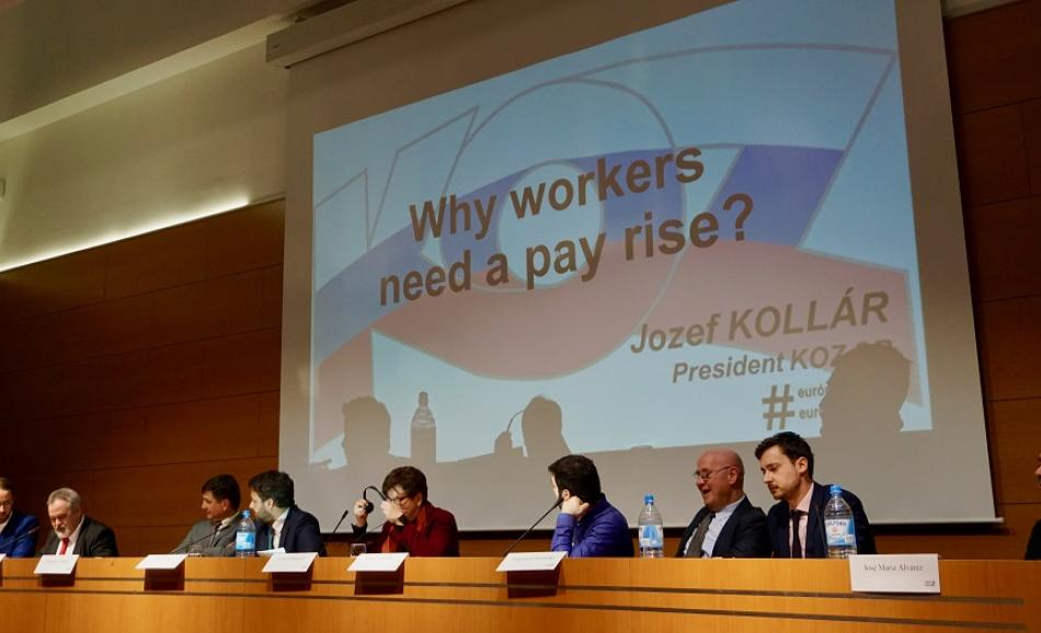 ETUC Pay Rise conference February 2017