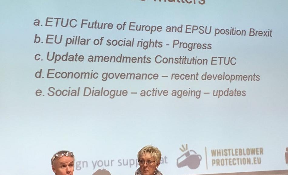 EPSU Executive Committee 8-9 November 2016