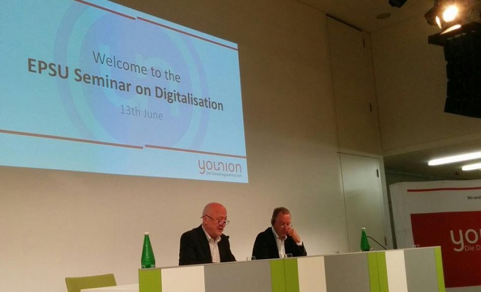 EPSU digitalisation seminar, Vienna 13 June 2016