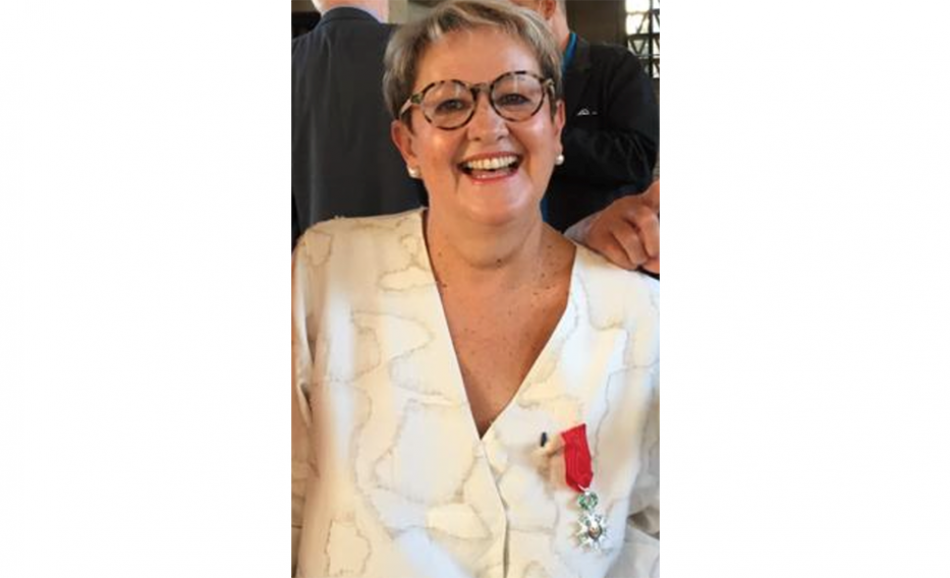 Francoise Geng Chevaliere in the French order of the Légion d'honneur