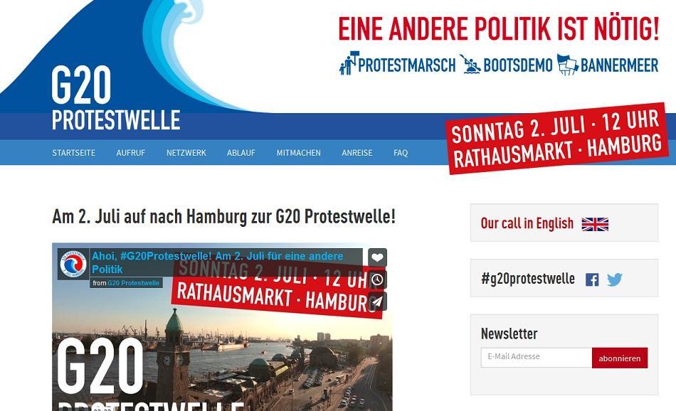 G20 protest Hamburg