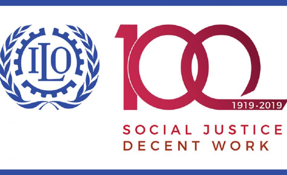 ILO 100th birthday logo