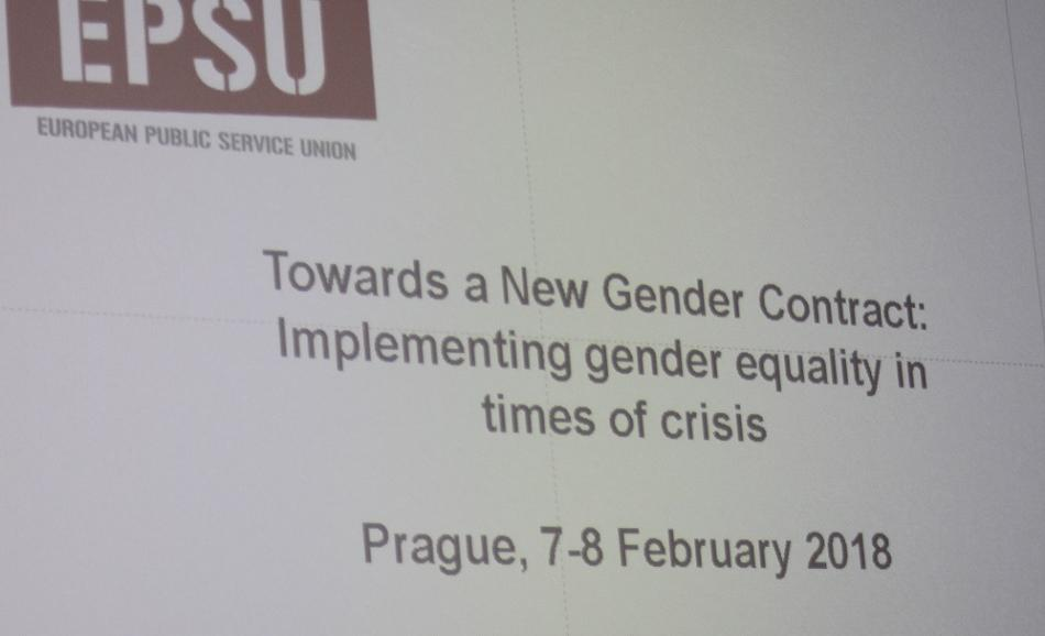 """EPSU conference Towards a New Gender Contract """"Prague Statement"""" February 2018"""