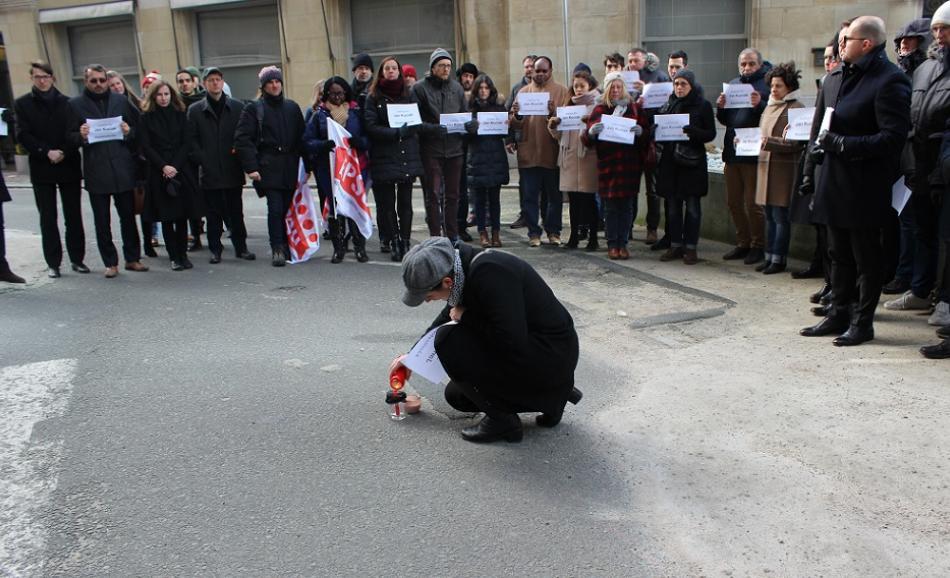 silent vigil  for Jan Kuciak and Martina Kušnírova, Brussels, 1st March 2018