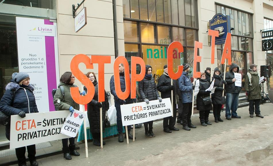 Action of Lithuanian public sector unions against CETA 21 January 2017 Riga