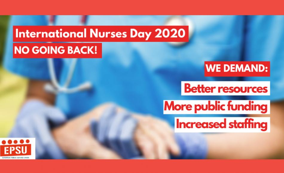 EPSU logo International Nurses day