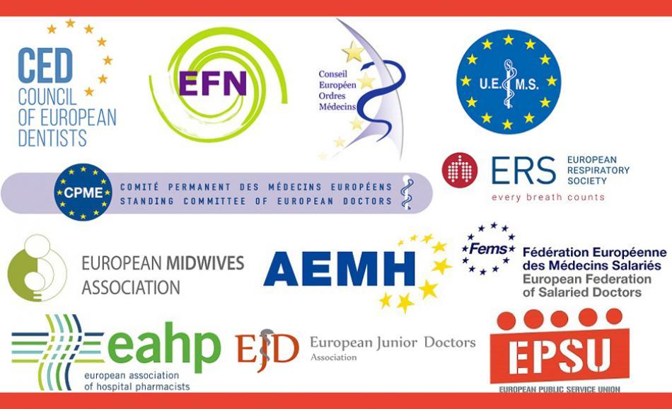 logos all PR european health professionals PRESS RELEASE COVID-19