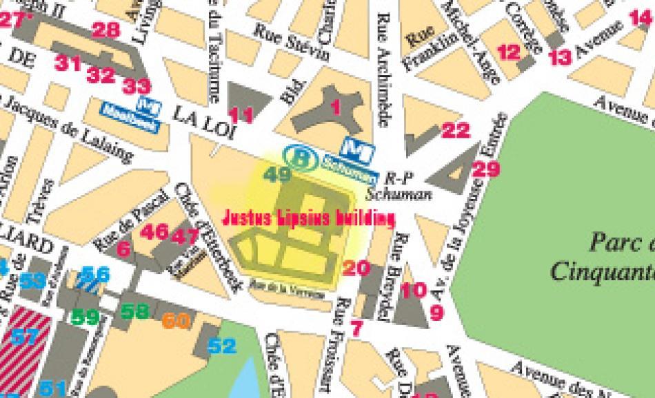 Rond Point Schuman & Justus Lipsius building area