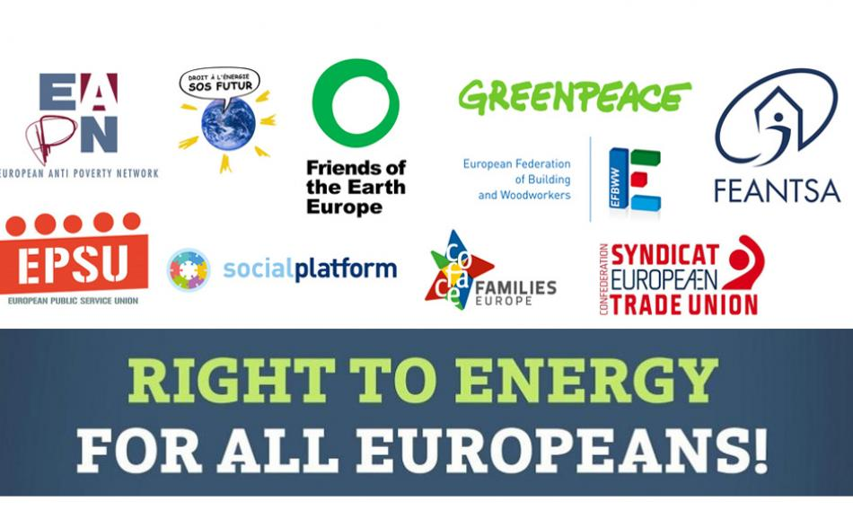 Right to Energy for all Europeans logos all plus title