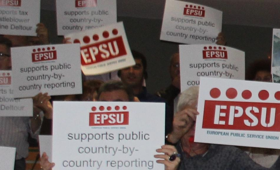 Support public CBCR - EPSU