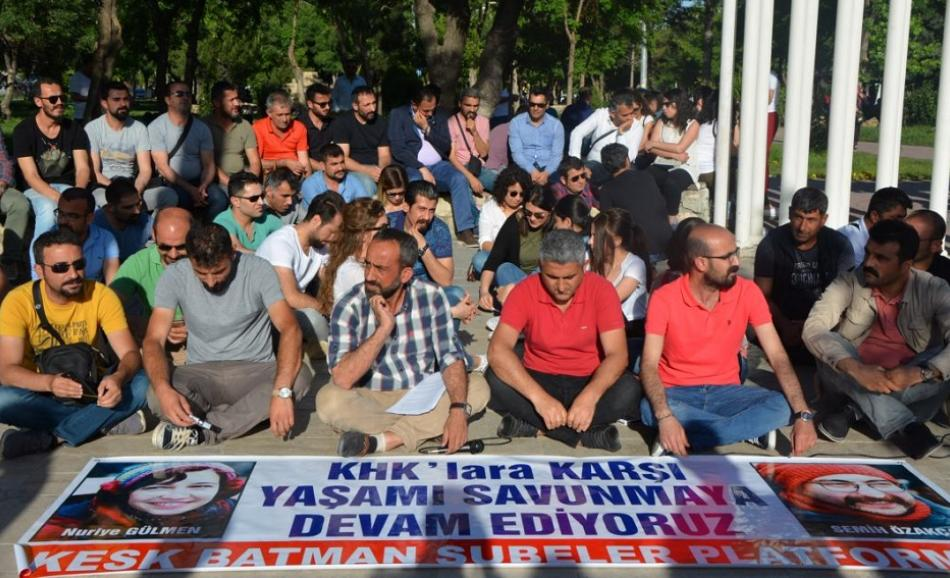 Turkey -  KESK supports two members dismissed in purge, out on hunger strike 12 May 2017