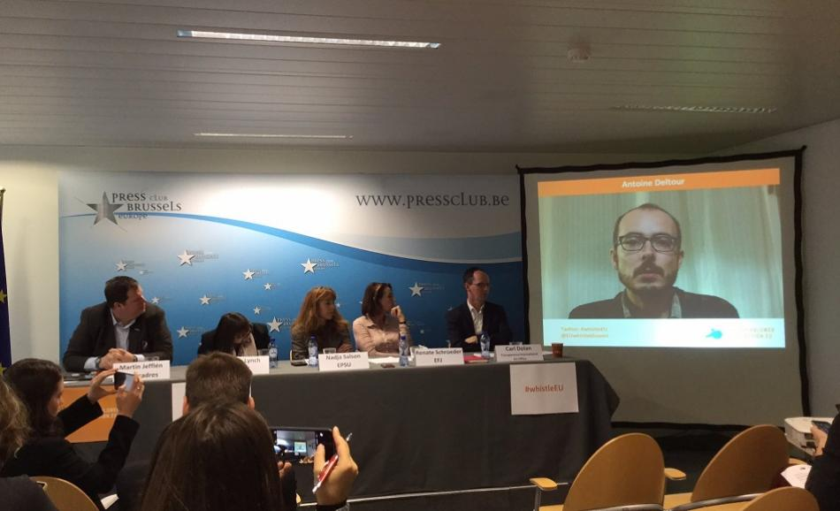 Press conference launching the whistleblowers protection platform, 17 October 2016