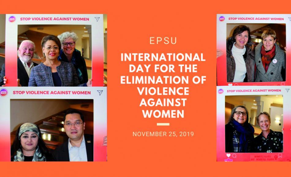EPSU campaign International day for elimination of violence against women 25 November 2019