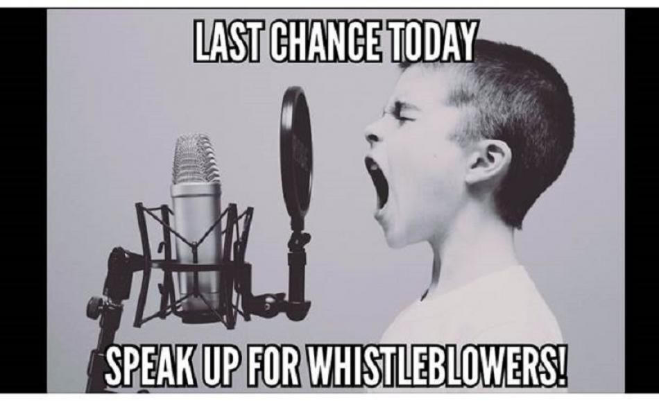 Whistleblowers final day 29 May 2017