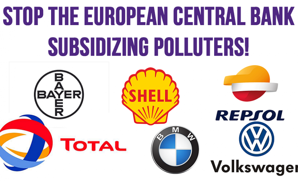 STOP the ECB subsidizing climate disaster - NGOs Statement March 2017